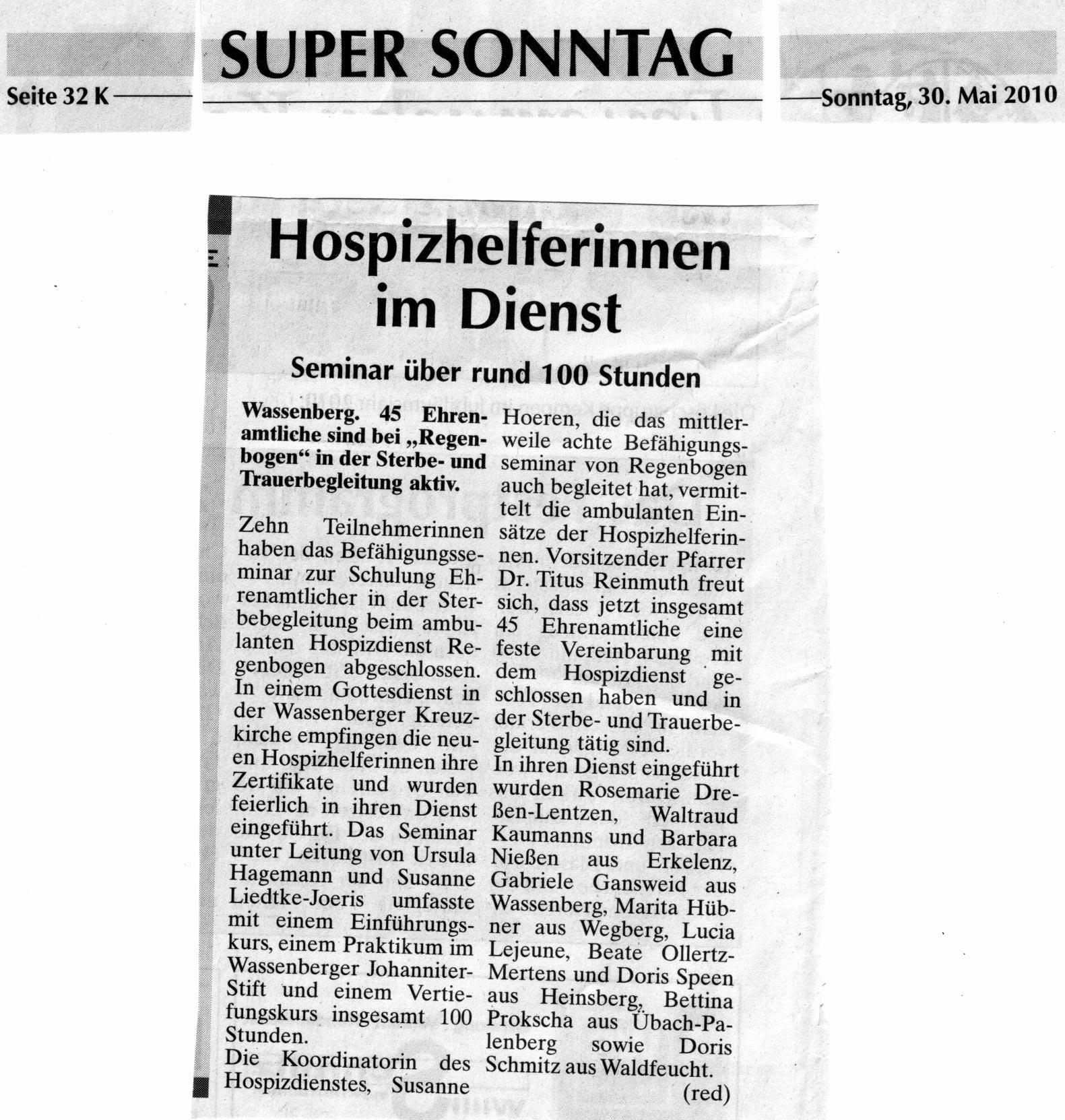 Super Sonntag 30. Mai 2010