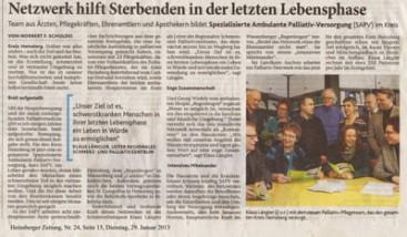 Gründung SAPV Bezirksstelle Heinsberg