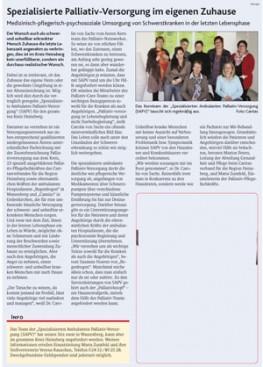 Kirchenzeitung Bistum Aachen, Aprilausgabe 2013, SAPV